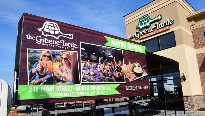 The Greene Turtle Sports Bar & Grille has opened its first location at the North Brunswick Transit Village near Costco and Target. The chain has developed a close relationship with Rutgers University Athletics.
