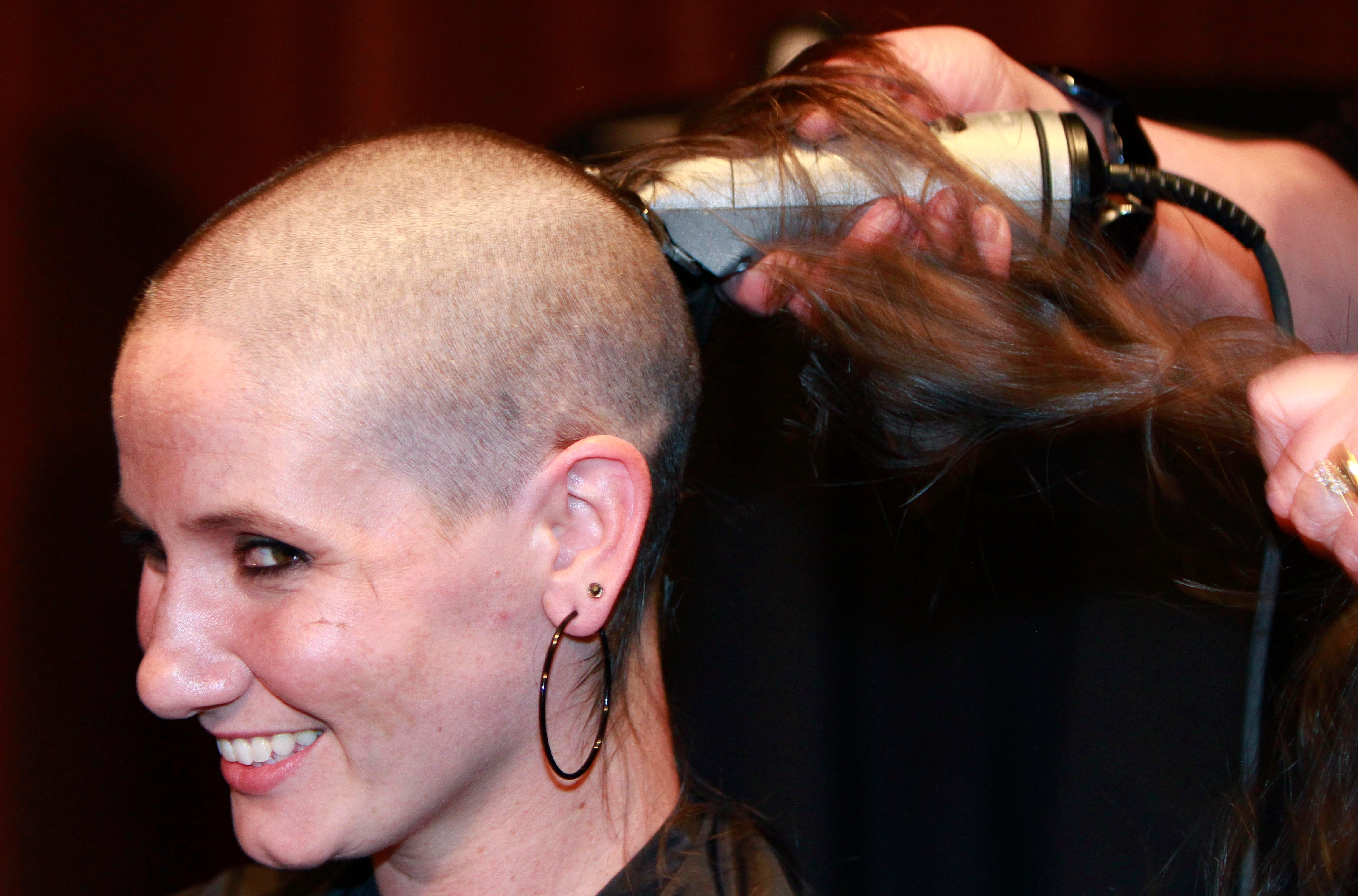 Gets Her Head Shaved
