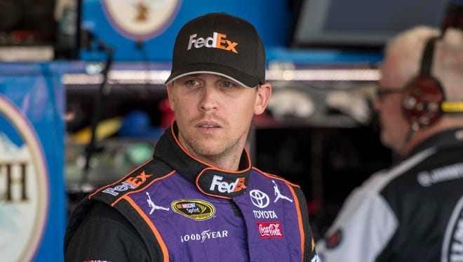 Denny Hamlin finished seventh Sunday at Phoenix International Raceway, but it was not high enough to advance him into the championship race.