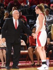 Marist College coach Brian Giorgis instructs Willow Duffell in this 2018 file photo.