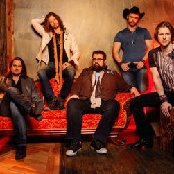 The members of a cappella group Home Free, from left: Tim Foust, Austin Brown, Rob Lundquist, Chris Rupp and Adam Rupp.