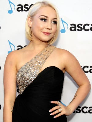 Raelynn arrives Oct. 31, 2016, at the 54th Annual ASCAP Country Music Awards at the Ryman Auditorium in Nashville.