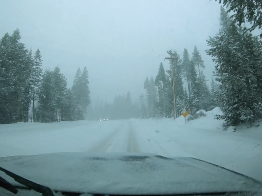 Screen shot driving Squaw Valley Road