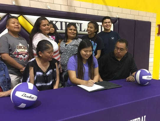 Kirtland Central's Jerica Holiday signs her national