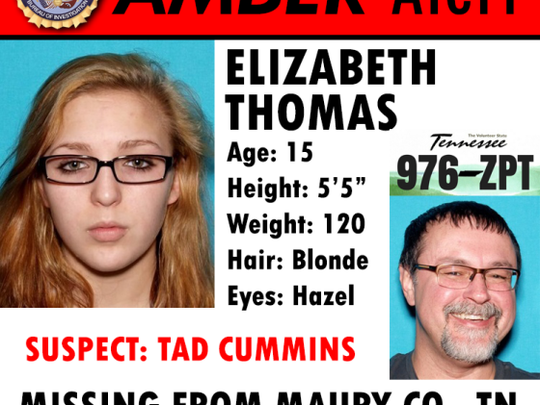 An AMBER Alert has been issued for Elizabeth Thomas.