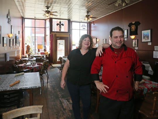 Ben and Jeri Halperin serve comfort and Southern food at the restaurant Augusta in the tiny town of Oxford, Ia. The couple moved north from New Orleans after Hurricane Katrina and eventually settled in Oxford in 2008 to open the restaurant.