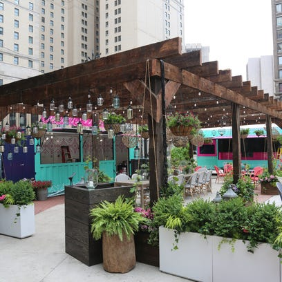 Detroit's new outdoor dining concept feels more like Miami Beach