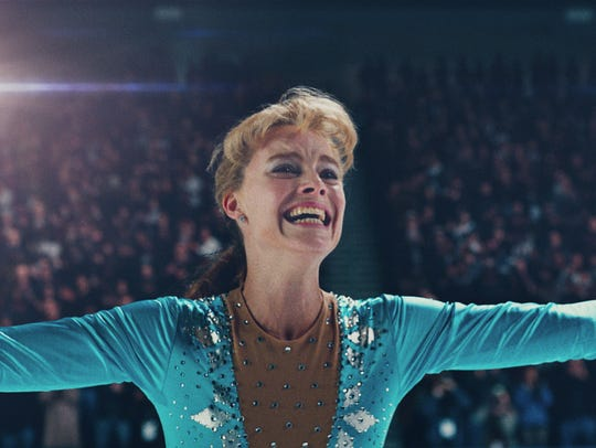 "Margot Robbie as Tonya Harding in ""I, Tonya."""