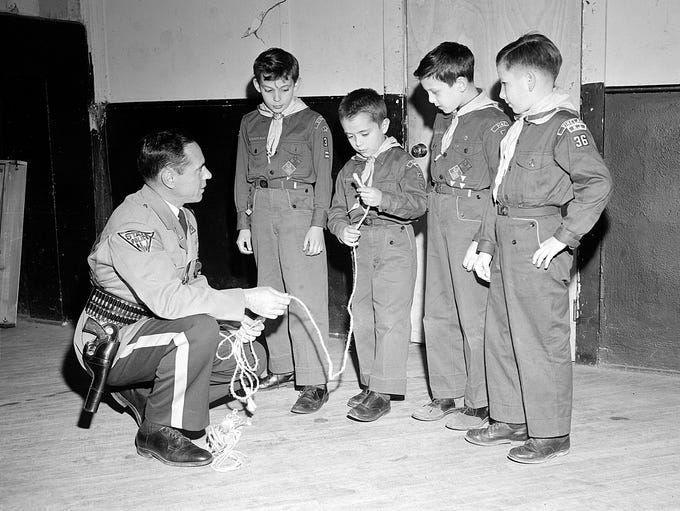 Vineland Troop 36 Cub Scouts pictured here with a New