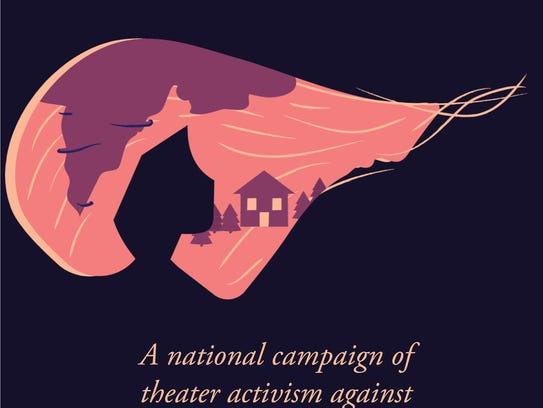 A graphic promoting the national campaign of theater