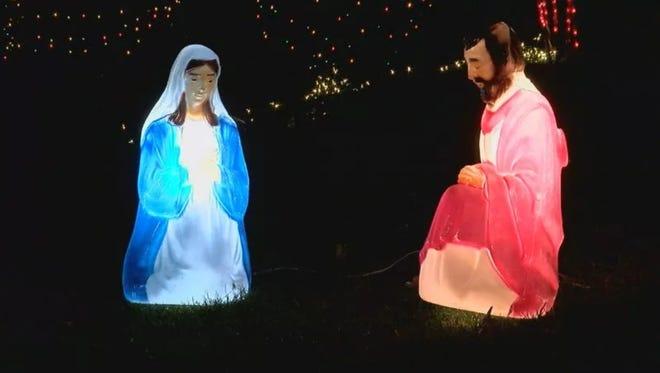 The nativity scene without baby Jesus.