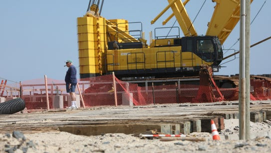 Construction equipment is now a common sight in reviving