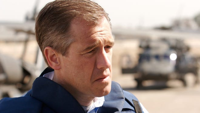 "Brian Williams of ""NBC Nightly News"" reports from Camp Liberty in Baghdad on March 8, 2007"