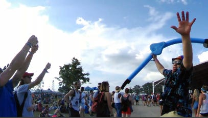 A 360 view of the 2015 Bonnaroo Music and Arts Festival held in Manchester, TN.