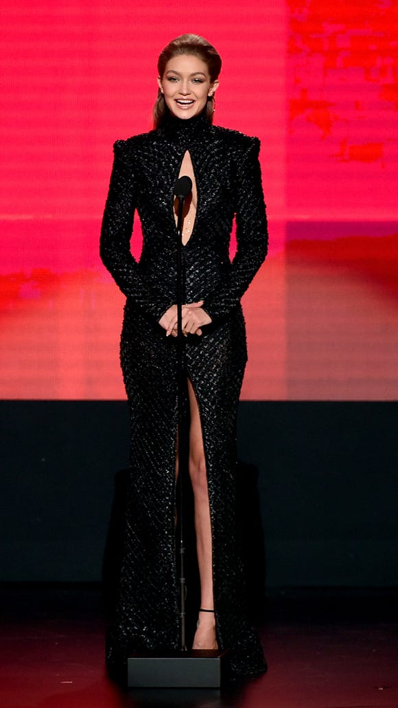 Everything Gigi Hadid wore at the American Music Awards, ranked
