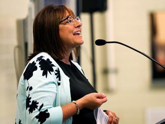 Wife of Gov. Scott Walker, Tonette Walker, speaks about