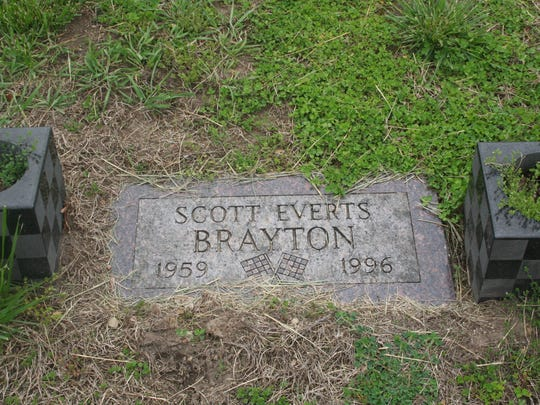 Scott Brayton, who was buried in his hometown of  Coldwater, died in a crash at the Indy 500 in 1996.