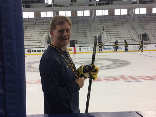 Michigan coach Mel Pearson