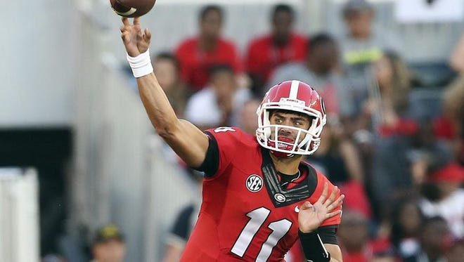 Georgia quarterback Greyson Lambert is second in the nation in completion percentage at 76.5 percent.
