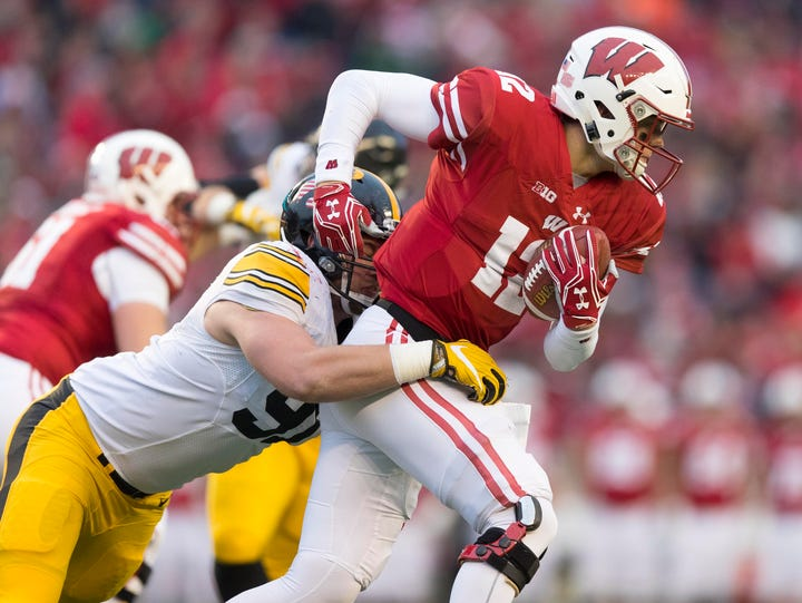 During last year's game, Iowa defensive tackle Brady