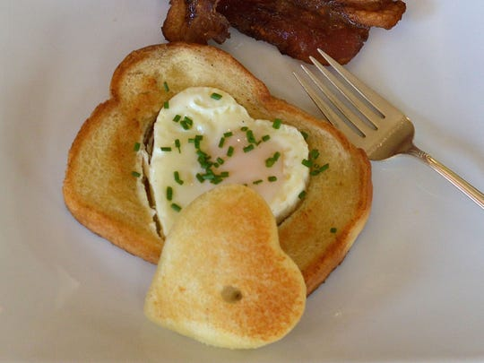 Mom will appreciate the special heart-shaped touch of this simple egg dish.