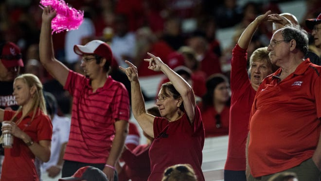 UL Ragin' Cajuns fans are hoping for more happy times in Saturday's homecoming game.