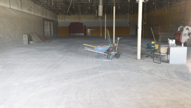 The interior of what will become the new Mountain Home VA clinic is currently an empty shell. The new clinic is expected to be fully operational as of August 8.