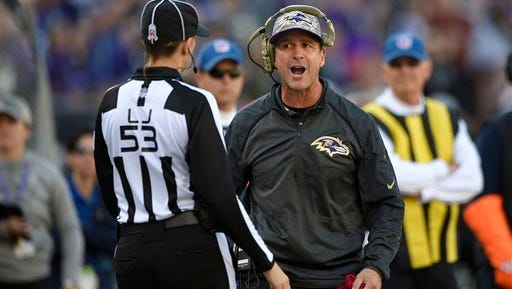 John Harbaugh's Baltimore Ravens lost their season finale to Cincinnati on Sunday, 27-10.