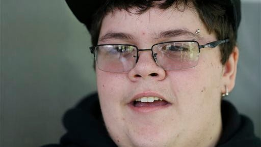 This Tuesday Aug. 25, 2015 photo shows Gavin Grimm speaks during an interview at his home in Gloucester, Va.  Grimm is a transgender student whose demand to use the boys' restrooms has divided the community and prompted a lawsuit. (AP Photo/Steve Helber)