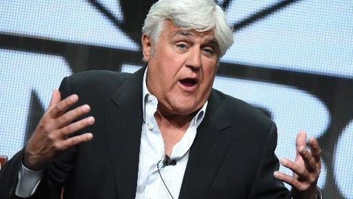 """Jay Leno participates in the """"Jay Leno's Garage"""" panel at the The NBCUniversal Summer TCA Tour at the Beverly Hilton Hotel on Aug. 13, 2015, in Beverly Hills, California."""