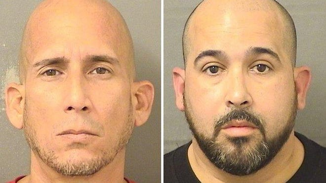 Brothers Guillermo Parodi-Vargas (left) and Maikel Parodi-Vargas were booked June 9, 2020, at the Palm Beach County Jail.