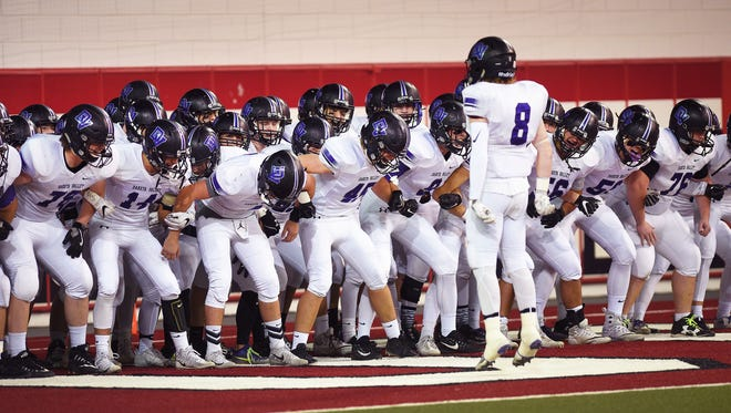 Dakota Valley prepares to play Madison Saturday, Nov. 11, at the DakotaDome in Vermillion.