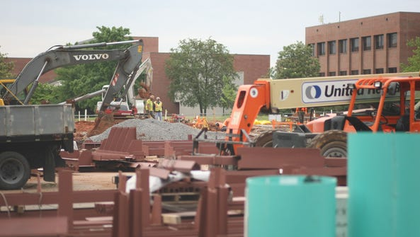 The construction of the the new Arts & Design building