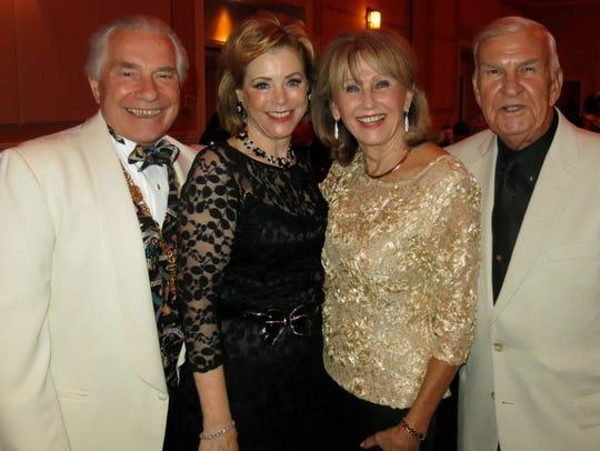 Bob and JoAnna Robinson, Elaine and Rich Baki at Krewe