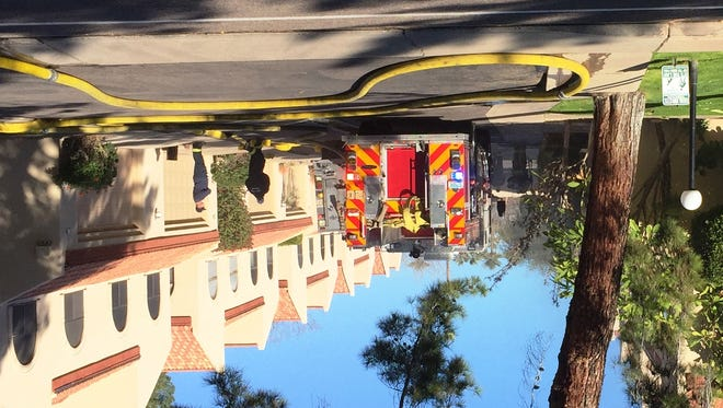 Phoenix fire crews at the scene of a townhouse fire near 15th Street and Maryland Avenue on Jan. 27, 2017.