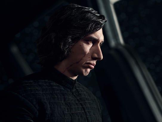 In 'Star Wars: The Last Jedi,' Adam Driver's Kylo Ren