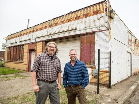 Founders Brewing Co. co-founders Dave Engbers, left,