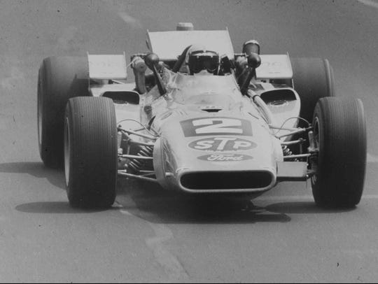 Mario Andretti drives to victory at the 1969 Indianapolis