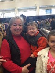 Ray and Maureen Glegg, with grandchildren Grant and Stella Crowder