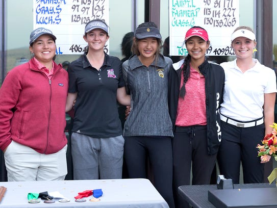 The five qualifers for state golf next week: (left