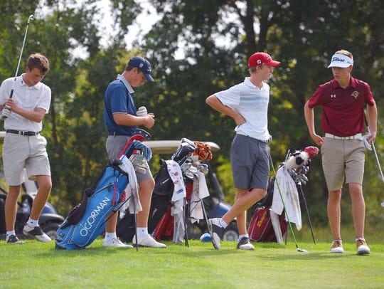 Boys high school golf city meet Tuesday, Sept. 19,