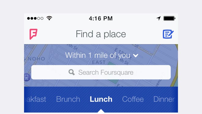 In a complete rebranding of feel and function, social media app Foursquare has changed everything, including its home screen.