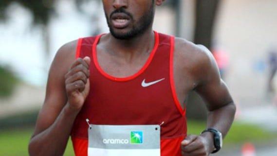Abbabiya Simbassa, at the Houston Half Marathon in 2016.
