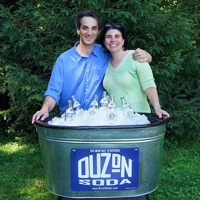 Phil and Anastasia Broikos launched their Greek soda