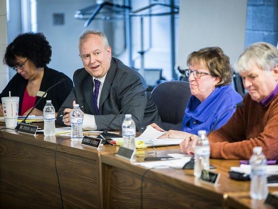 Superintendent Dr. Steve Baule and Muncie school board