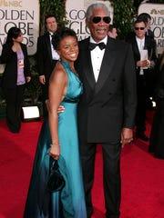 Actor Morgan Freeman and step granddaughter Edena Hines