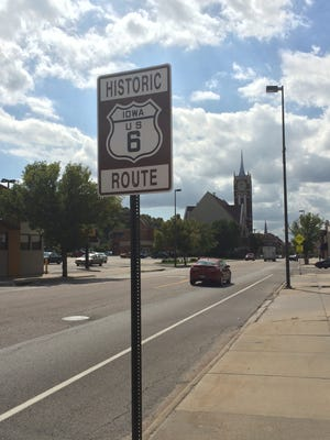 Route 6 cuts right through Council Bluffs.