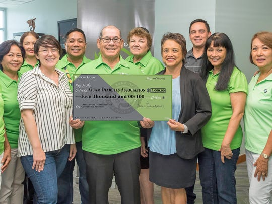 Bank of Guam is a Platinum sponsor for the 18th Annual Diabetes Conference scheduled for Nov. 12. Photographed with the Guam Diabetes Association are Bank of Guam Officers: