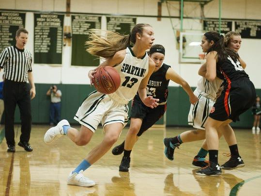 Midelbury vs. Winooski Girls Basketball 12/17/16