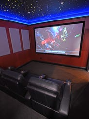 Home theaters are easily installed with a projection
